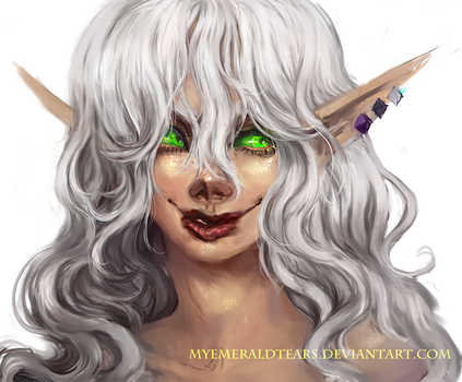 3rd Place Prize: Blood Elf by MyEmeraldTears