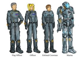 Galactic Federation Uniforms by GuiMontag