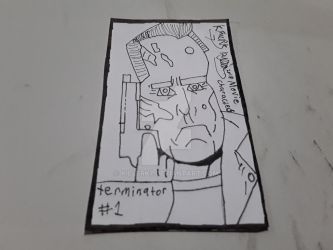 Terminator Sketch Card by killerk7
