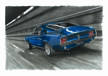68 Mustang Fastback by przemus