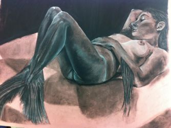 Fig. Drawing - charcoal by holykeebler216
