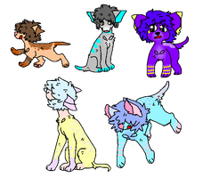 dog adopts: LAST ONE IS TEN POINTS (1/5 OPEN) by pika-ad0pts