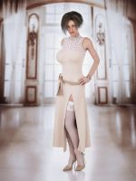 split dress with lace top by SaphireNishi
