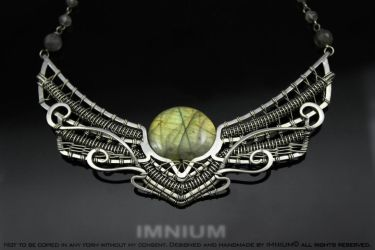 The Winged Sun necklace by IMNIUM