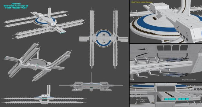 Alliance Space Station Concept 2 (Post Reaper War) by nach77