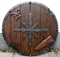 Larp - Chaos Barbarian Shield by MordorLegion