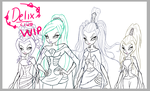 Winx WIP: Blizzard and Trix by DragonShinyFlame