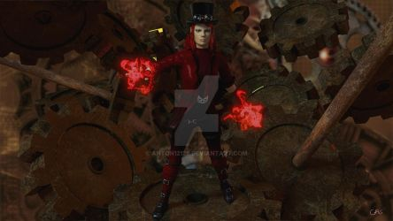 Steampunk Scarlet Witch(BG Competition) by anton12128