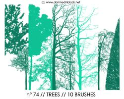 PHOTOSHOP BRUSHES : trees by darkmercy
