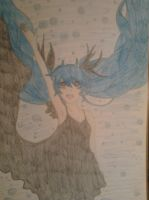 My Drawing Miku Hatsune Deep Sea Girl by LeeTaemin97