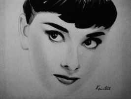 Audrey Hepburn by kgpanelo