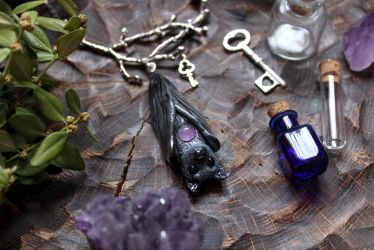 Bat Necklace by Lavenderwitch