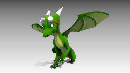 Daeva the Dragoness, in 3D again by Nero1024