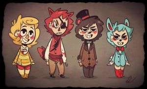 FNAF- Animal Crossing Style by LiltingMoone