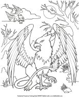 Griffin Coloring Page by TabLynn