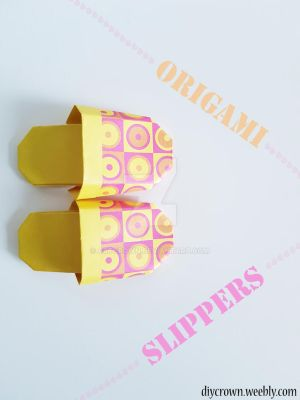 DIY Origami Slippers by Artcrown