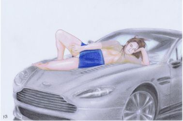 Lady on Aston Martin DB9 by keira-bloom