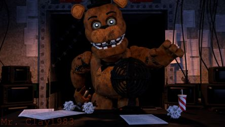 [SFM/FNAF] Withered Freddy in the Office by MrClay1983