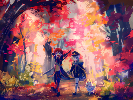 Fall Forest by Aonik