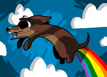 Rainbow Farts ((COLOURED)) by trekToons