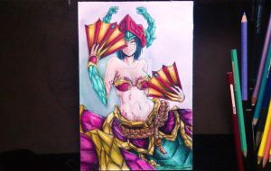 Cassiopeia Jade fang Skin from LOL by seiji0