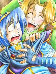 Link and Marth by Rachet777