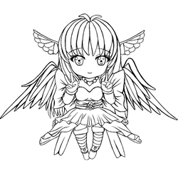 Angel-Izka Outline by Denki89