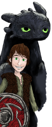 Hiccup and Toothless by LenleG