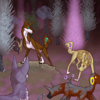 Hunted in the Cotton Candy Forest :'D by SowoD