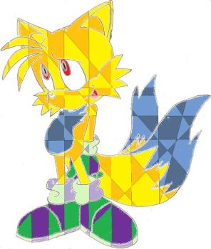 Tails-Sonic coloured by KyuubifiedNaruto