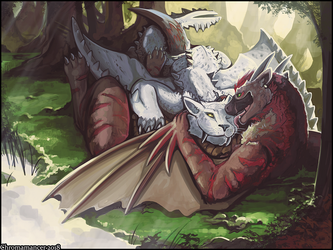 Monsters at Rest by Chromamancer