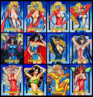 FEMFORCE COLOR AP SKETCH CARDS by AHochrein2010