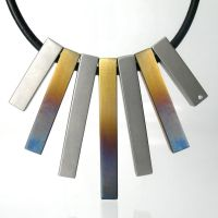 Baked Steel, Diamond Necklace by Spexton