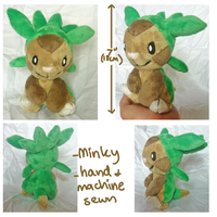 Chespin-gen 6 grass starter plush by scilk