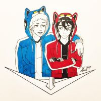 Inktober Day 29 - Lance and Keith from Voltron by Serina67