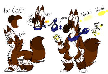 Ivan The Fennec Fox (New Main Fursona Ref) by Perma-Fox