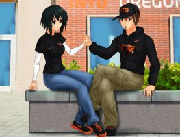 Commission: we students together by Amenoosa