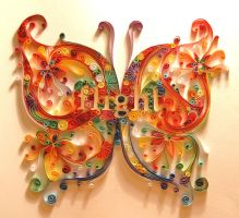 butterfly quilling1 by UsoKei