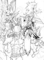 Final Fantasy Heroes by seraphimon83