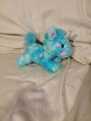 my Aurora blue  spotted unicorn plush by UnicornLover2500