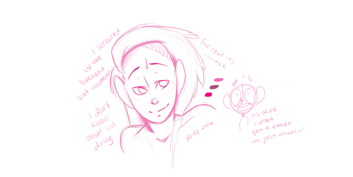 I Screwed Up the Forehead, but I'm Desperate :^) by spazzmatron
