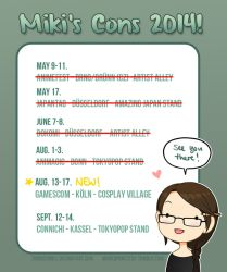Conventions 2014 -updated!- GAMESCOM by Zombiesmile