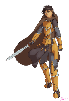 Some Human Paladin by MisoSouperstar