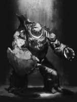 Commission - Golem by L3monJuic3