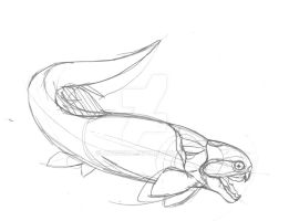 Sketch Chinese Dunkleosteus by avancna