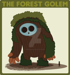 Forest Golem by EmersonWolfe