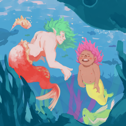 Mermaid Tantrum by Efejotart