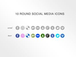 10 Social Media Icons by KL-Webmedia
