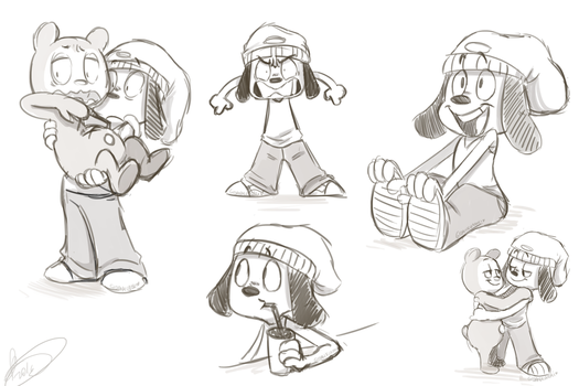 Parappa Sketches by Gidan-Kuroki