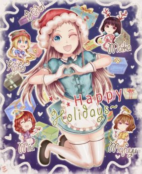 Blend S: Happy holidays! 2017 by NamiYami
